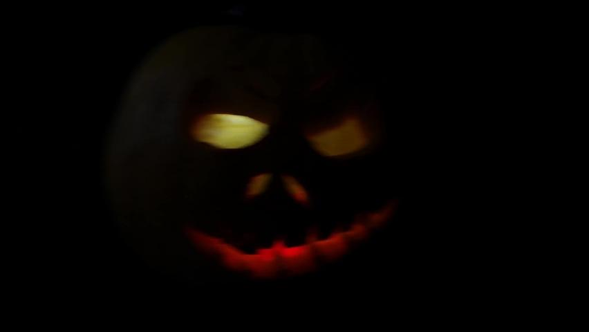 Funny pumpkin on Halloween holiday   Shutterstock HD Video #1061161015