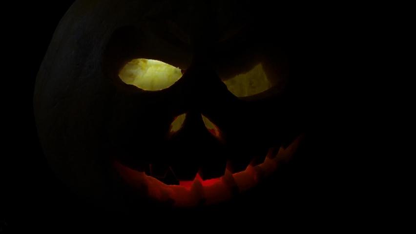 Funny pumpkin on Halloween holiday   Shutterstock HD Video #1061161024