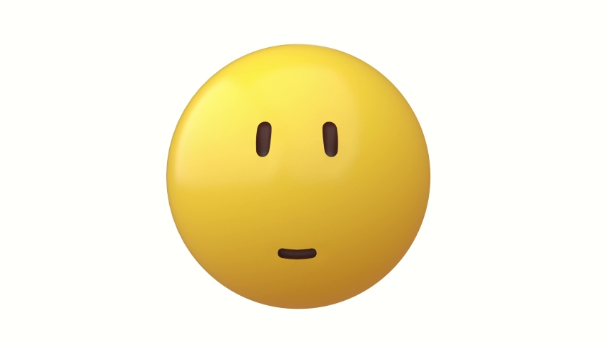 Smiling emoji, face yellow funny 3d render | Shutterstock HD Video #1061163154