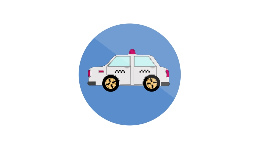 Taxi Flat Animated Icon. 4k Animated Transport Icon to Improve Your Project and Explainer Video   Shutterstock HD Video #1061164399