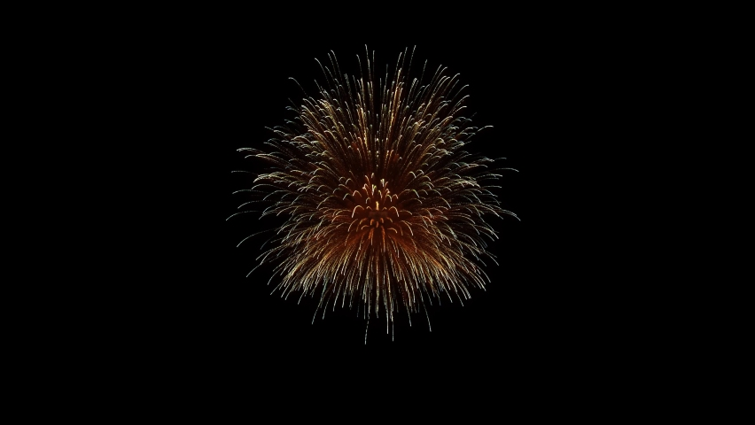 Colorful holiday fireworks background. New year's eve real fireworks celebration.4K abstract blur of real golden shi ning fireworks with bokeh lights in the night sky. glowing fireworks show.  | Shutterstock HD Video #1061169091