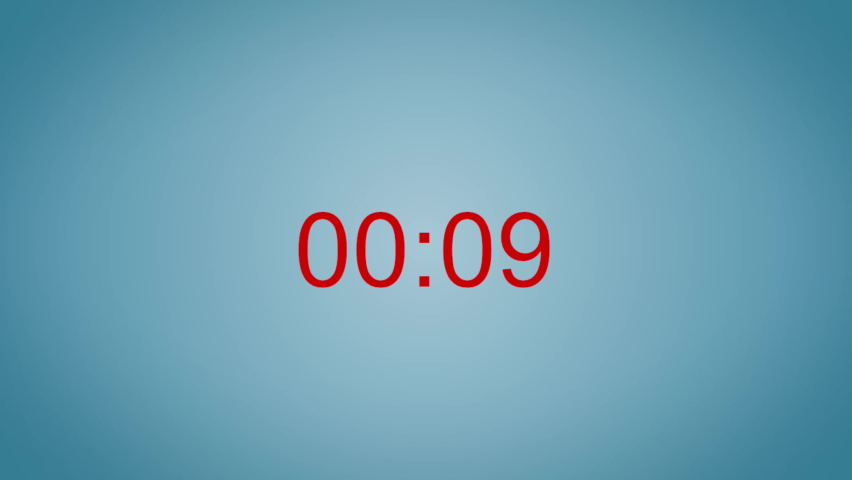 Motion animation of a countdown timer with blue background   Shutterstock HD Video #1061178916