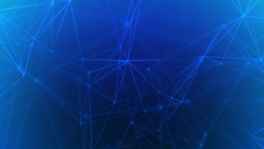 3D render of abstract Plexus blue oving dots and lines geometrical shapes animation. Connection web concept. Digital, Communication Technology Network Background With Moving Triangles, Lines And Dots. Royalty-Free Stock Footage #1061204698