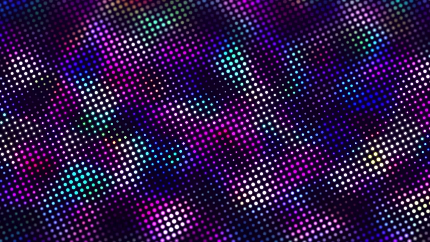 Abstract background with moving glowing dots. Sound wave element. Equalizer for music. 3d rendering. Seamless loop. 4k | Shutterstock HD Video #1061216497
