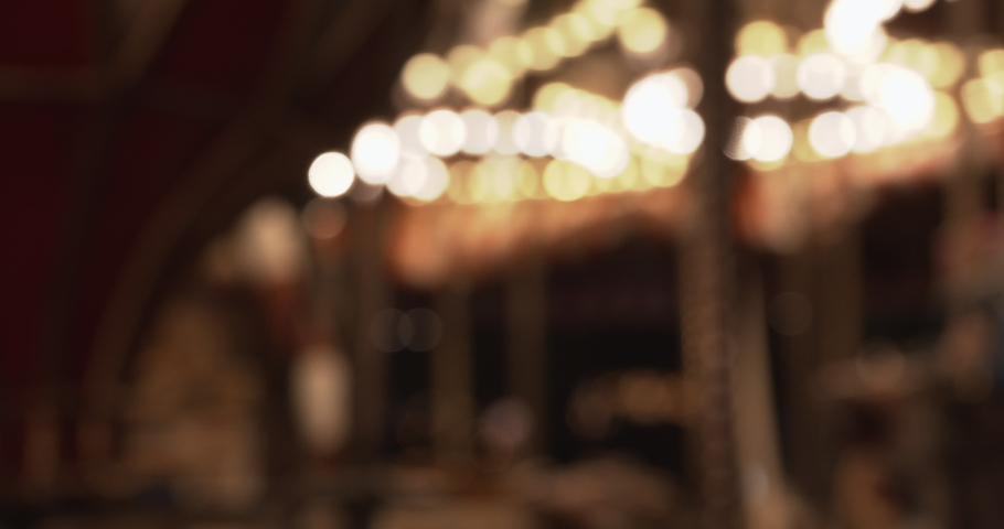 Carousel blurred and colorful on the Christmas Market of Vienna, Austria Royalty-Free Stock Footage #1061218990