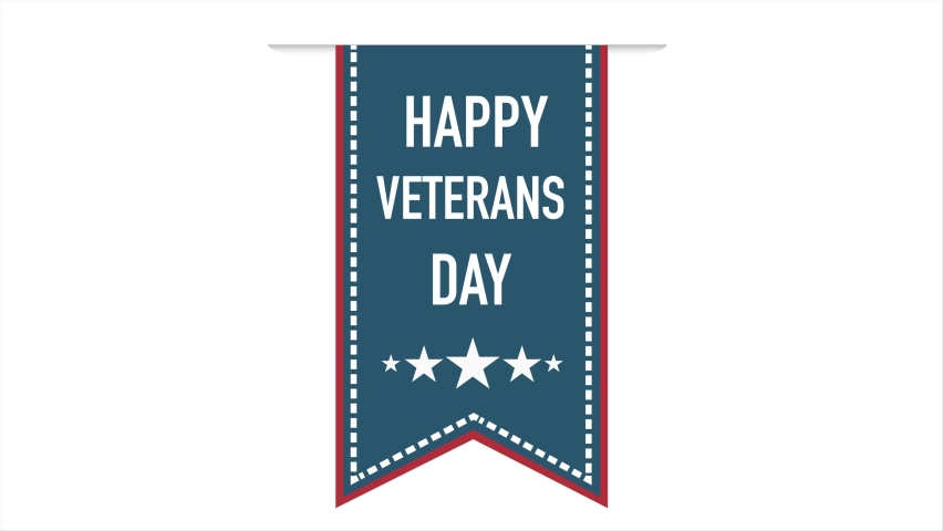 Animation of American flag waving over Happy Veterans Day  | Shutterstock HD Video #1061245267