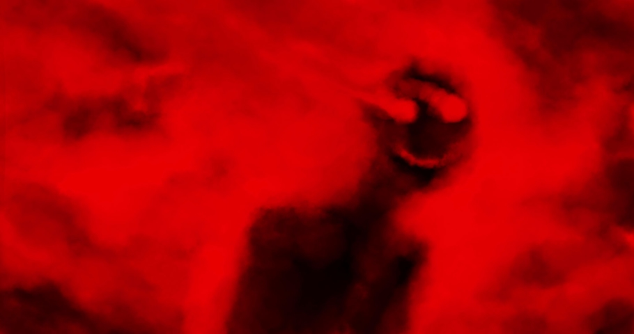 Scary animation with hellish storm of evil monsters. Collection of nightmares for Halloween. Black and red colors background. Motion graphics in horror fantasy genre. Frightening moving pictures.   Shutterstock HD Video #1061270836