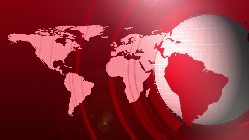 Red Color News Globe Animation Background for Headline News or Breaking News | Shutterstock HD Video #1061309713