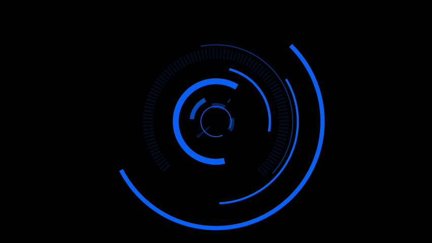 Template Blue Digital HUD Tracking and Target Animation on Black Background | Shutterstock HD Video #1061309983
