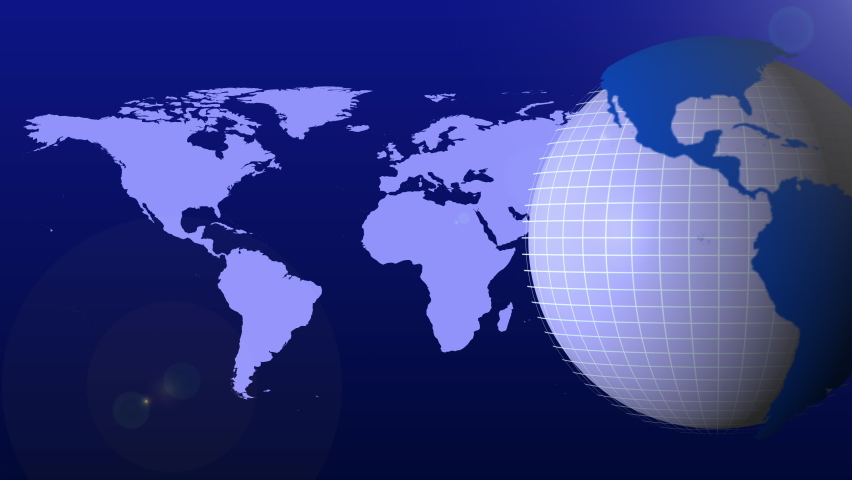 Blue Color News Globe Animation Background for Headline News or Breaking News | Shutterstock HD Video #1061310025