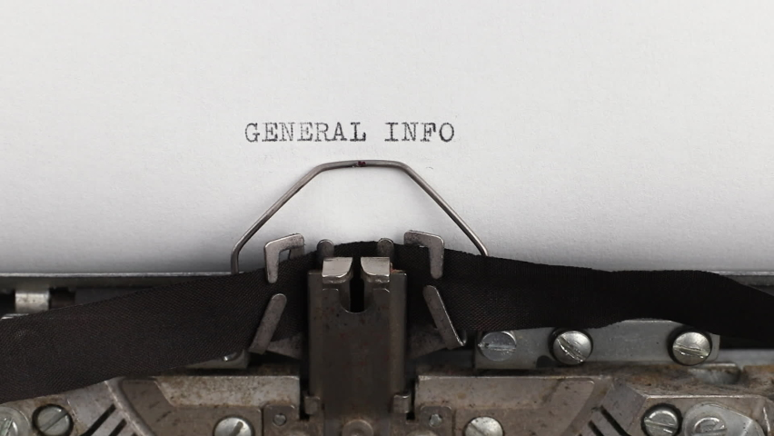 To type a quote general info on a vintage and old typewriter close-up | Shutterstock HD Video #1061315488