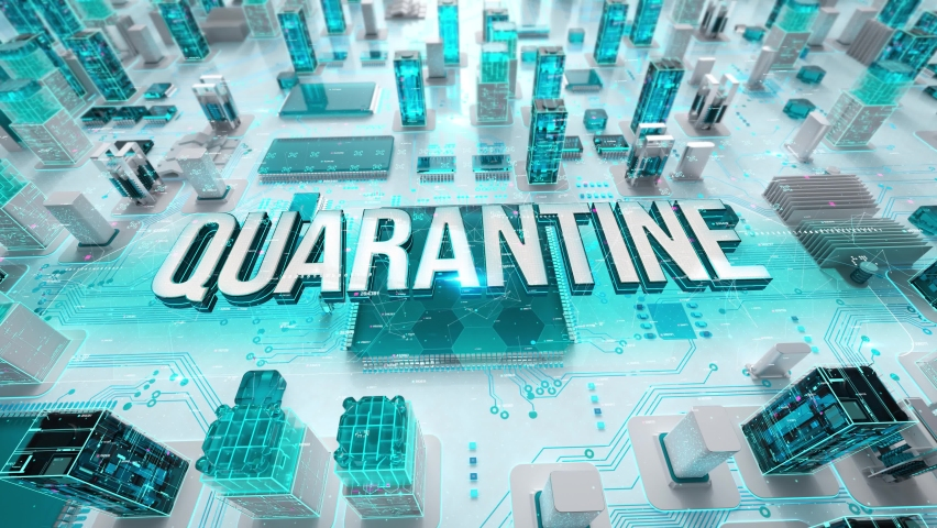 Quarantine with medical digital technology concept | Shutterstock HD Video #1061316631