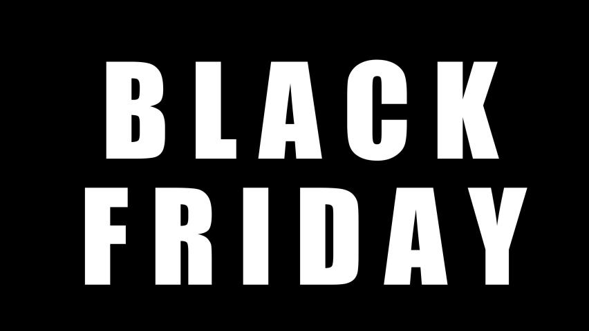 Black friday sale graphic element. black friday flash sale banner design 4k animation. sales shopping social media background.