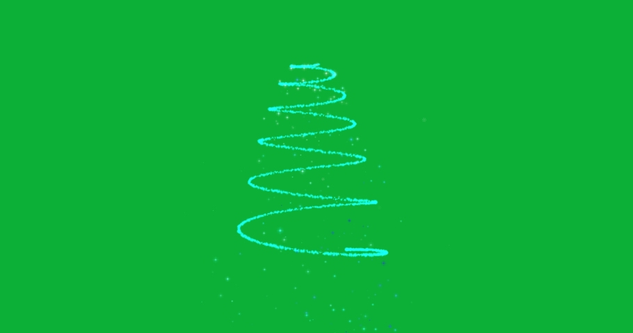 Animated Christmas tree with falling snowflakes on green screen background and copyspace, space for text. Christmas tree made of gold animated particles. Christmas mood. Glittering effect.   Shutterstock HD Video #1061372650