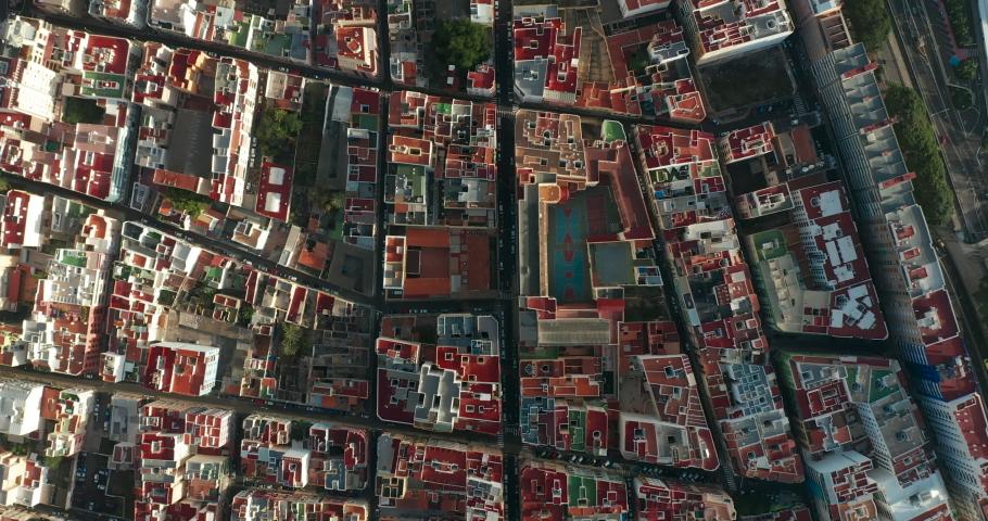 Summer day cityscape aerial panorama spain, Tenerife, Santa cruz de tenerife. | Shutterstock HD Video #1061463064