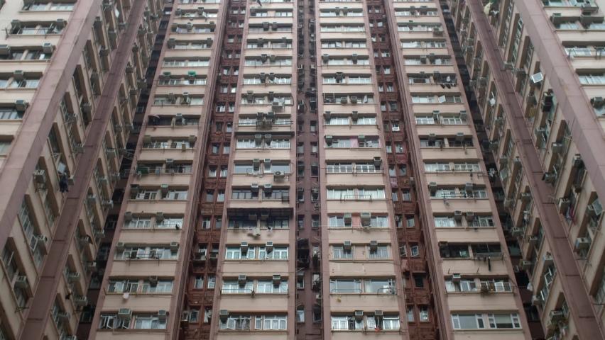 Hong Kong Apartment Building, Large Apartment Building in Hong Kong. | Shutterstock HD Video #1061469205