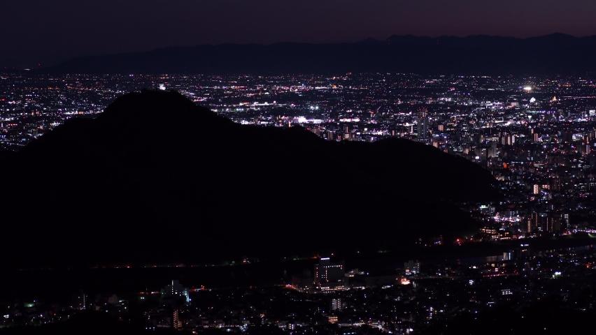 Japan night scene full of light. | Shutterstock HD Video #1061472349