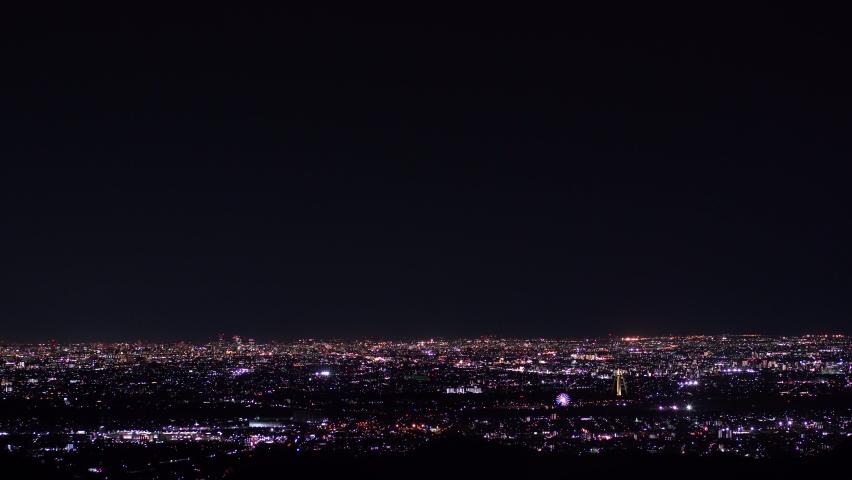 Japan night scene full of light. | Shutterstock HD Video #1061472352