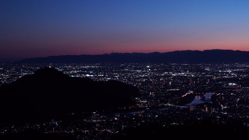 Japan night scene full of light. | Shutterstock HD Video #1061472364