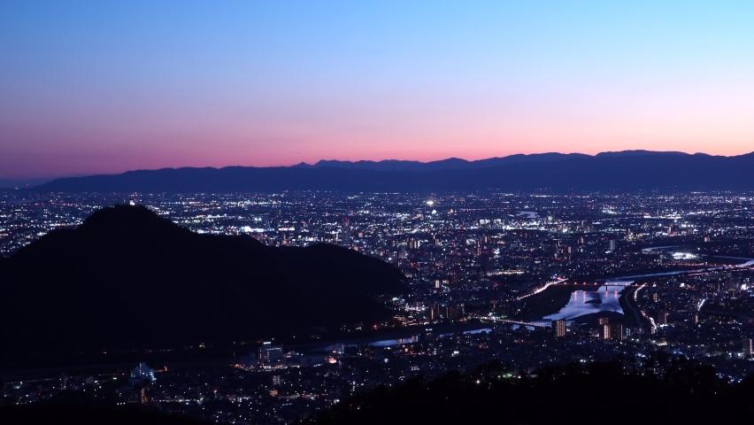 Japan night scene full of light. | Shutterstock HD Video #1061472367