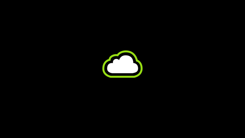 Cloud Animated Icon. 4k Animated Icon to Improve Project and Explainer Video | Shutterstock HD Video #1061491195