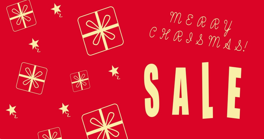 Merry christmas sale background, discount offer banner, sale season, mega sale. Animation | Shutterstock HD Video #1061510845