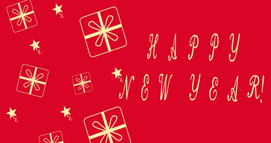 Happy new year lettering. happy new year. Celebration. Greeting card. Animation | Shutterstock HD Video #1061511355