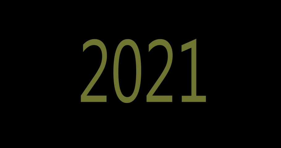 New year 2021 neon. 2021 numbers in the center. Animation | Shutterstock HD Video #1061511607