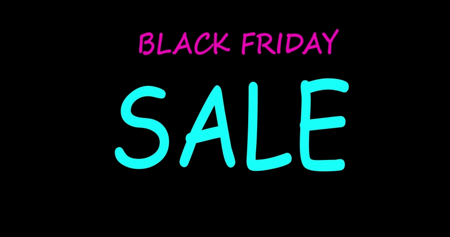 Black Friday sale. Sale banner. Animation. Neon | Shutterstock HD Video #1061511631