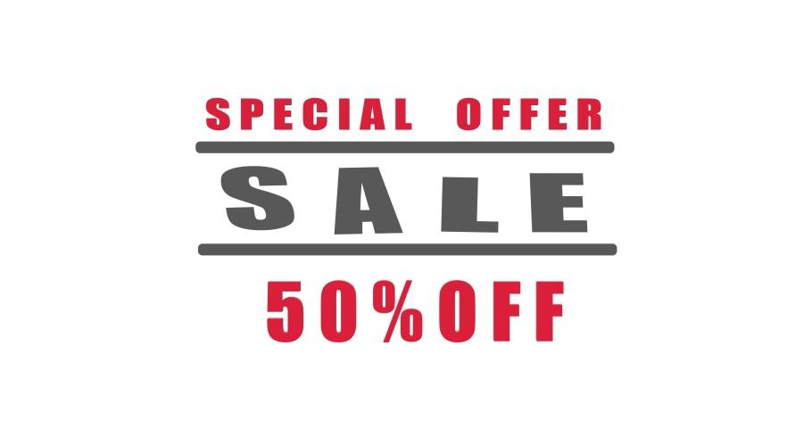 Sale 50 % off background, discount offer banner, sale season, mega sale. Animation | Shutterstock HD Video #1061511811