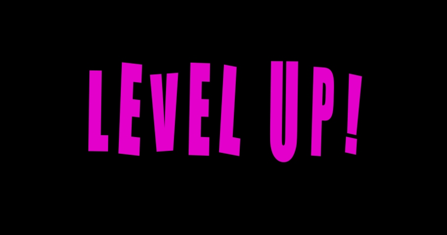 Level Up neon text on black background. Animation | Shutterstock HD Video #1061511940