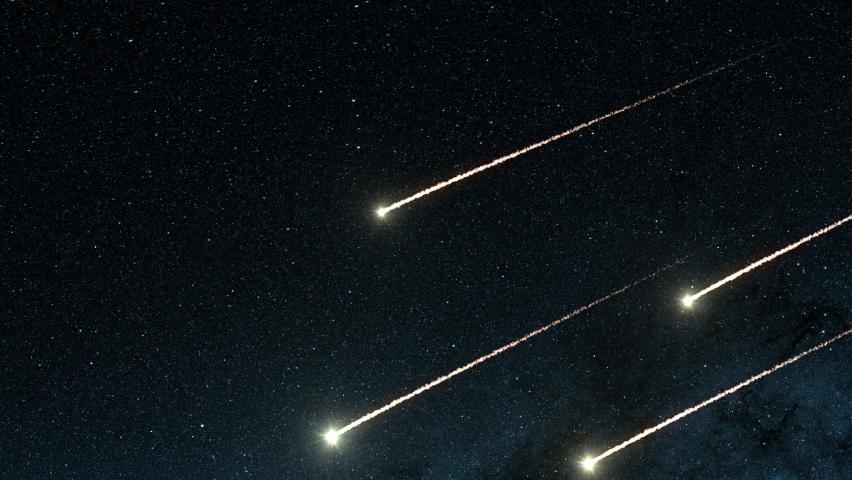 4k Meteor Shower in Space | Shutterstock HD Video #1061517679