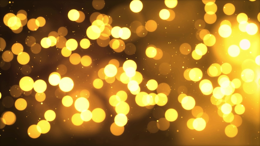 Gold abstract loopable bokeh Blinking backdrop. Luxury and glamor video loop Light background. Christmas, Happy New Year, Holiday, greeting, Festivel, birthday, Party, Invitation, event, Diwali. | Shutterstock HD Video #1061521432