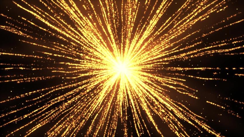 3D 4K Abstract Animation Explosion gold lights sparkles Lines Speed of light. Glowing light explodes. Flare in center. Festive golden motion Loop background. event, concert, festival show, Awards, | Shutterstock HD Video #1061521435