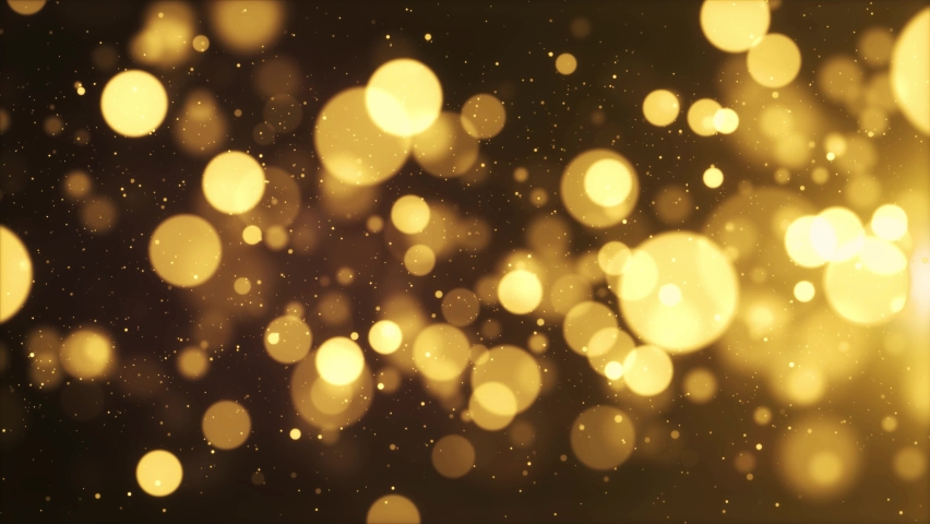 3d Gold Floating Dust Bokeh Particles In The Air with Flare on Black loop Background in Slow Motion Animation. award, wedding, party, fashion show, Christmas, New Year, anniversary celebration. | Shutterstock HD Video #1061521465