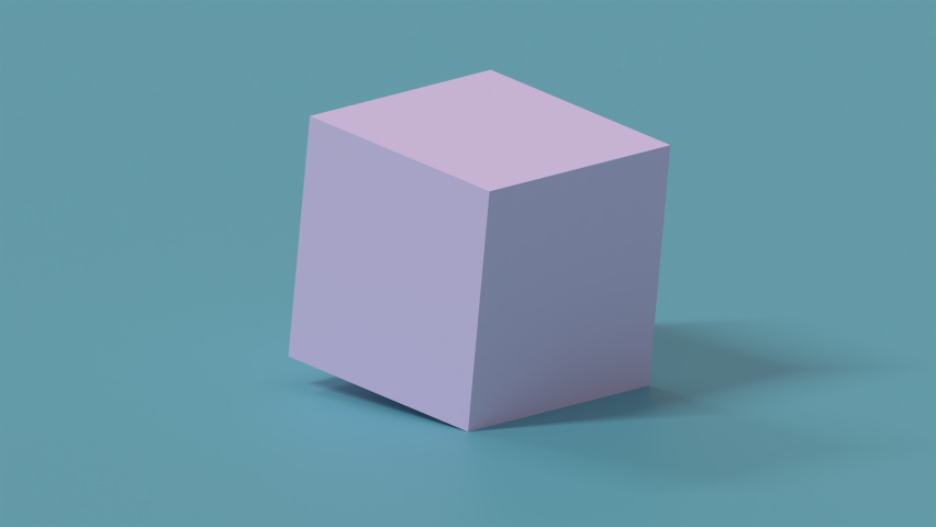 Abstract background of 3D cube split itself infinitely, 3D rendering