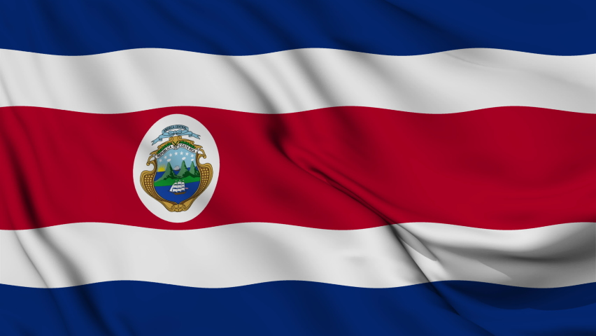 Flag of the Republic of Costa Rica | Shutterstock HD Video #1061563648
