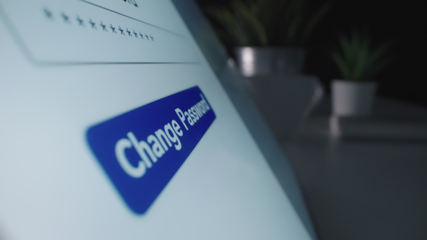 Motorized moving shot of changing password, shot with macro probe lens Royalty-Free Stock Footage #1061616463