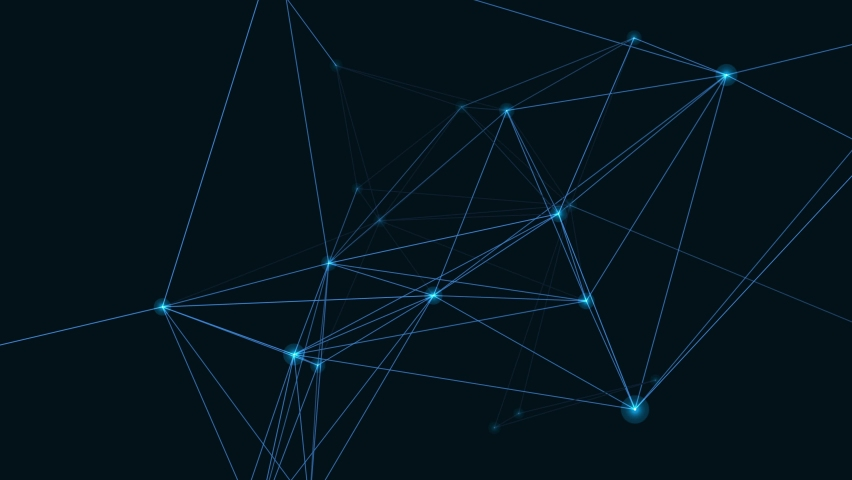 Node network digital background with shades of blue   Shutterstock HD Video #1061632384