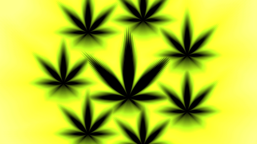 Background Canabis Weed Spinner Pattern Background Smokers Stoners Royalty-Free Stock Footage #1061681071