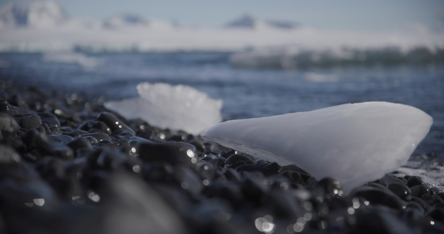 Antartica - Melting ice on the shore
