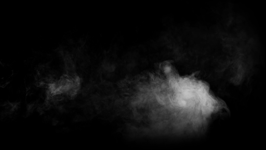 Smoke , vapor , fog - realistic smoke cloud best for using in composition, 4k, use screen mode for blending, ice smoke cloud, fire smoke, ascending vapor steam over black background - floating fog | Shutterstock HD Video #1061801167