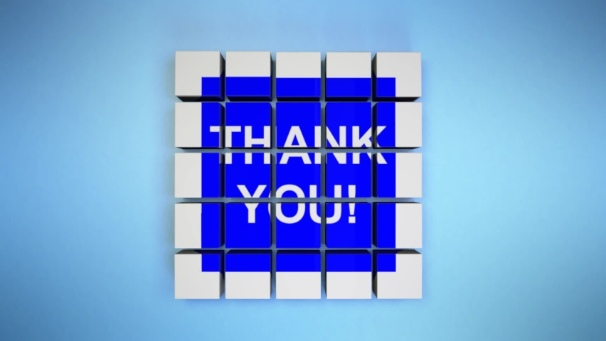 Thank you text banner outro. Thank you title reveal.  Royalty-Free Stock Footage #1061818186