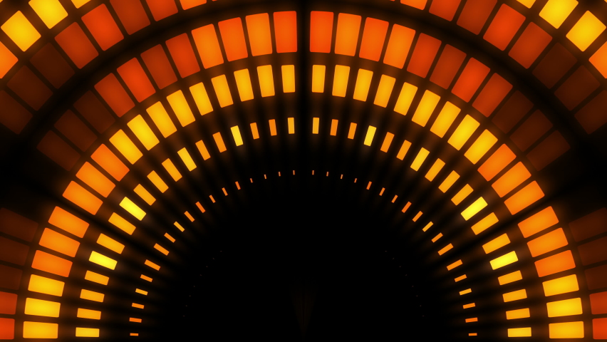 abstract background orange color abstract background Equalizer disco neon led stage #1061829508