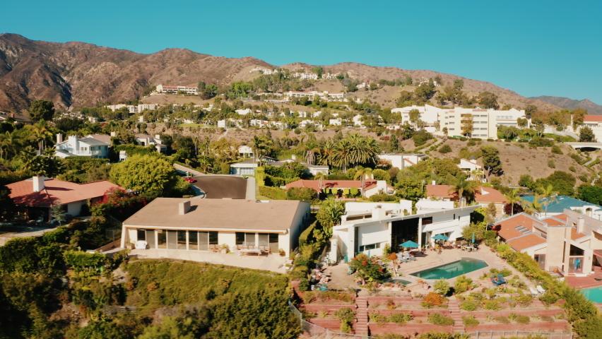 Malibu Country Estates. Cinematic aerial shots of Malibu Communities / 09.09.2020 Malibu, California, US