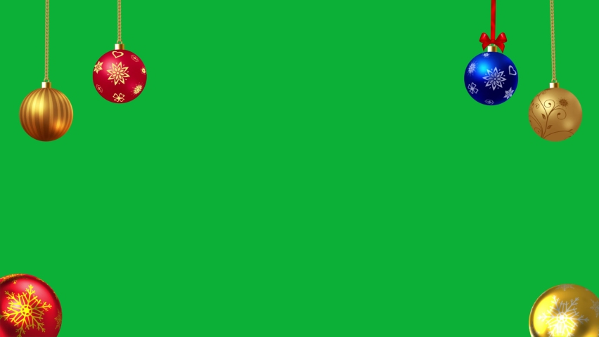 Beautiful Christmas Balls ornaments Package - Decoration Christmas Tree balls Hanging 4K animation on Green screen background - Realistic Christmas Ornament Balls Pack | Shutterstock HD Video #1062003994