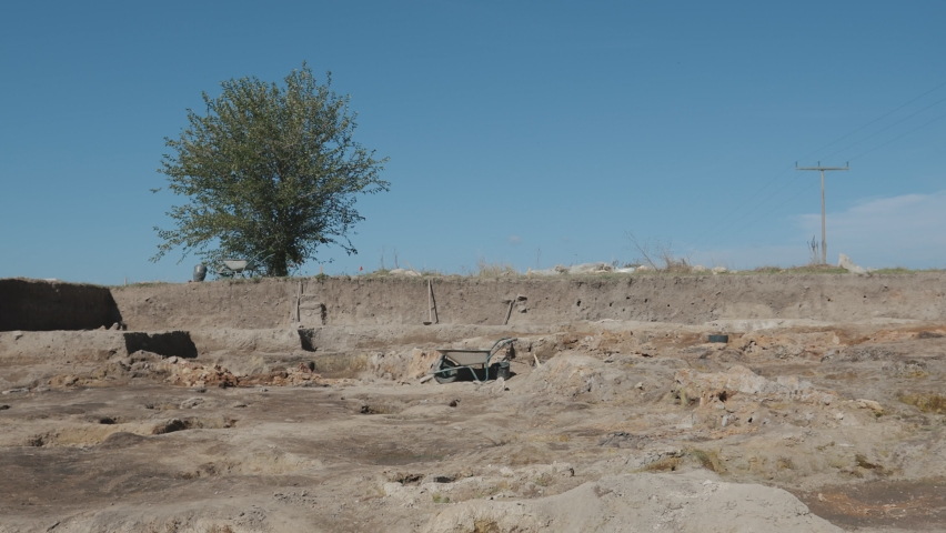 Archaeological View of the Ancient Sacred Place. Archeological excavation site