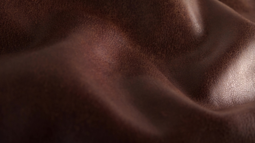 Brown soft leather texture surface close up sliding move professional stock footage Royalty-Free Stock Footage #1062025078