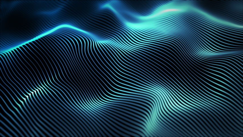 Abstract digital particle wave and lights background , Digital particle cyber or technology background, Animation of seamless loop. | Shutterstock HD Video #1062037177
