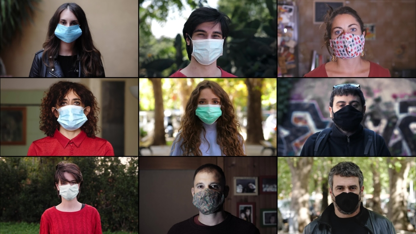 confidence, hope - take off the mask because the pandemic is over Royalty-Free Stock Footage #1062058474